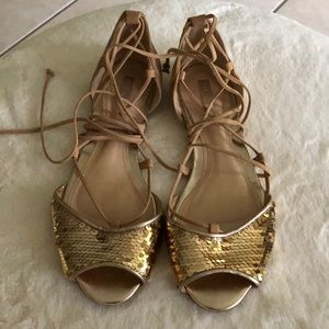 Schütz gold sandals